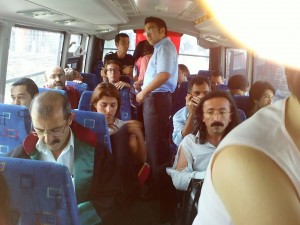 Arrested Lawyers on Bus