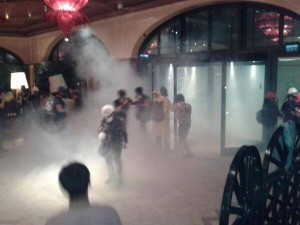 police in Divan hotel, gas entering hotel, insisting on arrest of volunteer Gezi Park doctors